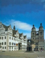 Lutherstadt Wittenberg: Marktplatz und Historisches Rathaus; Südseite