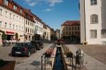 Lutherstadt Wittenberg: Historisches Rathaus; Westseite und Stadtbach
